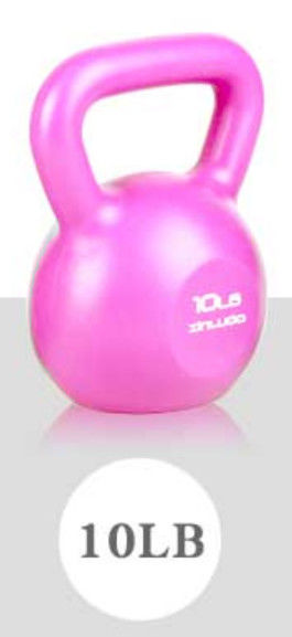 Solid Steel Handle Cast Iron Kettlebell , multi weight kettlebell 10 LBS